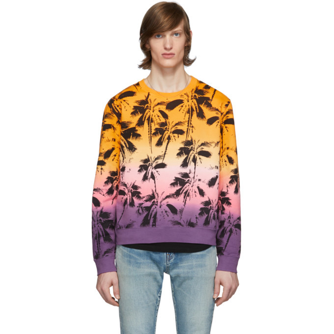 Photo: Saint Laurent Yellow Dip-Dye Palm Sweatshirt