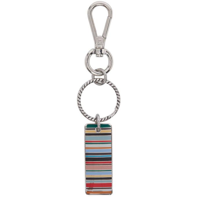 Photo: Paul Smith Multicolor Stripe Tag Keyring