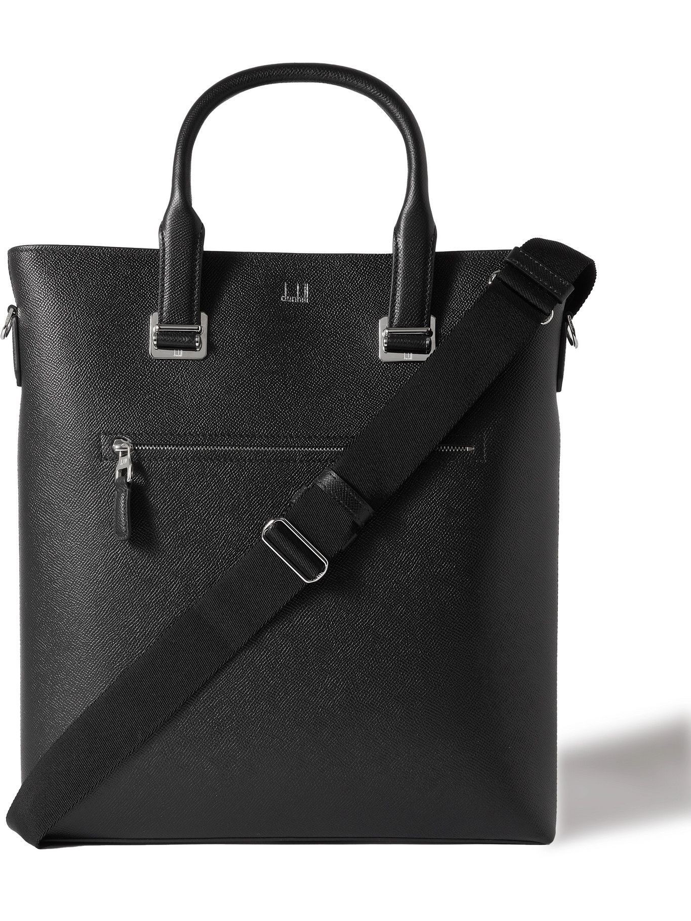 DUNHILL - Cross-Grain Leather Tote Bag