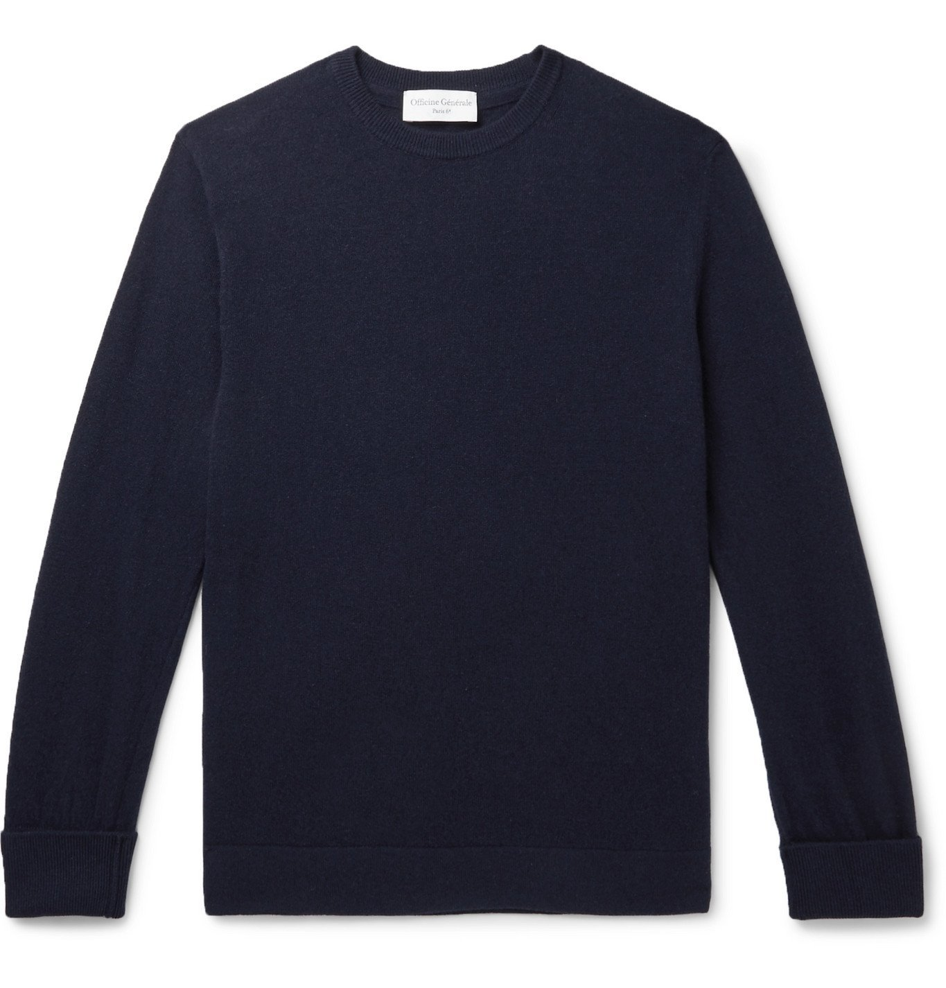 Photo: Officine Generale - Nina Cashmere Sweater - Blue