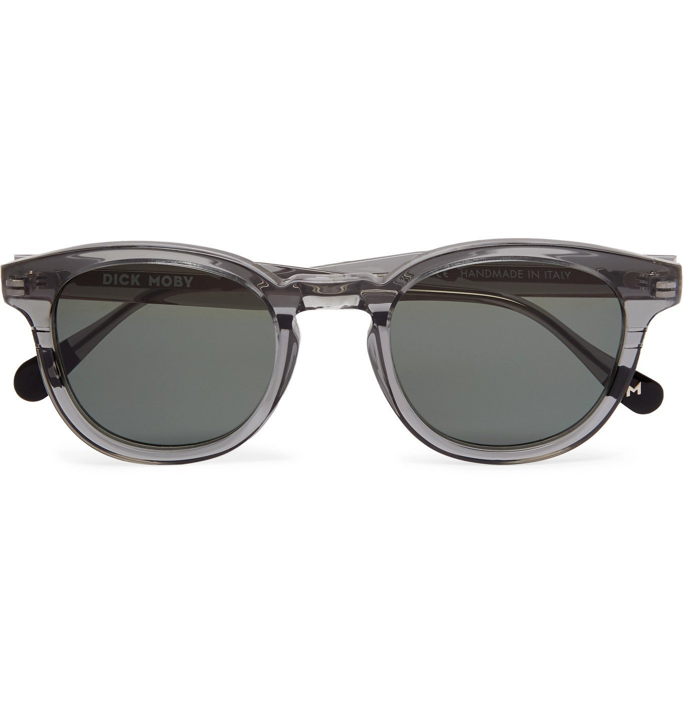 Photo: Dick Moby - Genoa Round-Frame Acetate Sunglasses - Gray