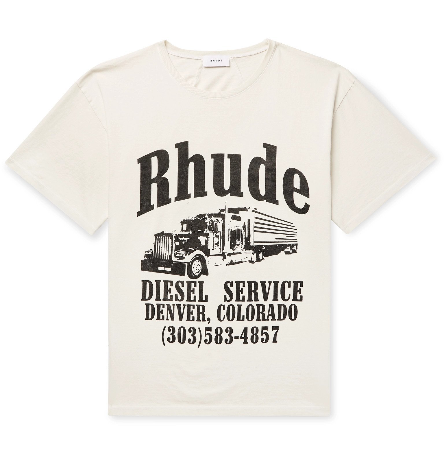 Photo: Rhude - Logo-Print Cotton-Jersey T-Shirt - White