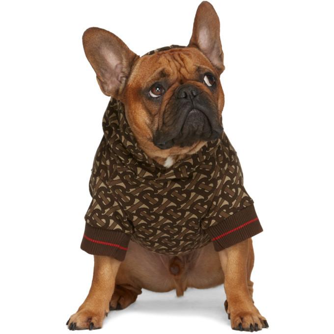 Burberry Brown Monogram Dog Hoodie