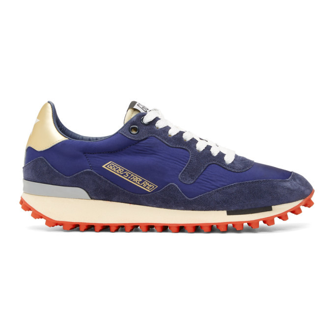 Photo: Golden Goose Blue Nylon Starland Sneakers