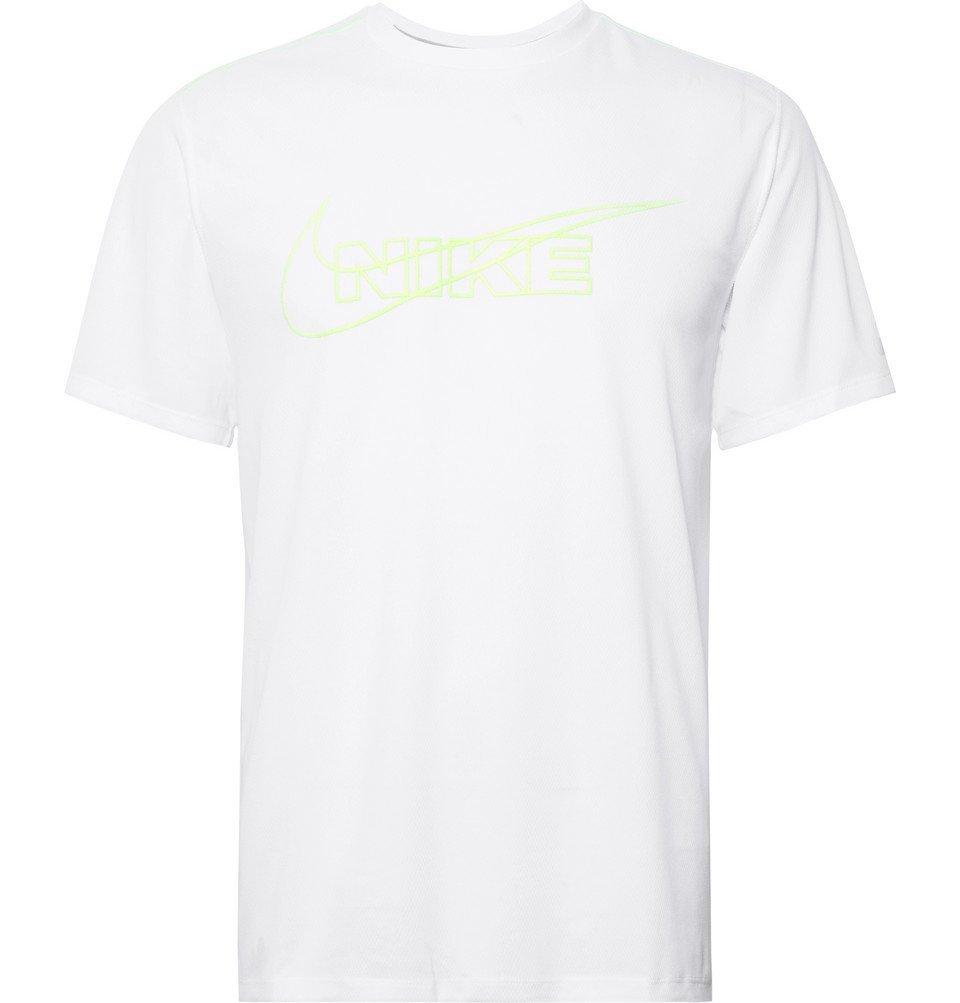 Nike Running - Logo-Print Breathe Dri-FIT Mesh T-Shirt - White