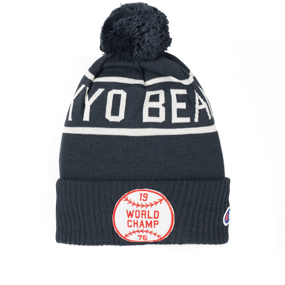 Photo: Champion x Beams Bobble Beanie Hat
