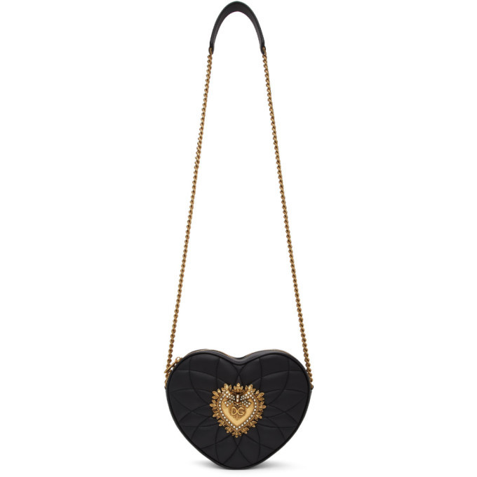 Photo: Dolce and Gabbana Black Devotion Heart Bag