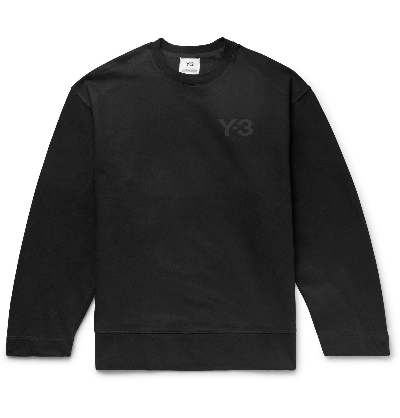 Photo: Y-3 - Oversized Logo-Print Loopback Cotton-Jersey Sweatshirt - Black