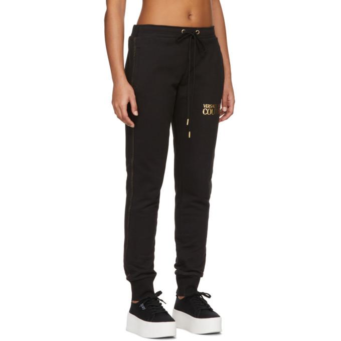 Versace Jeans Couture Black Logo Lounge Pants