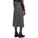 3.1 Phillip Lim Grey Flannel Side Wrap Skirt