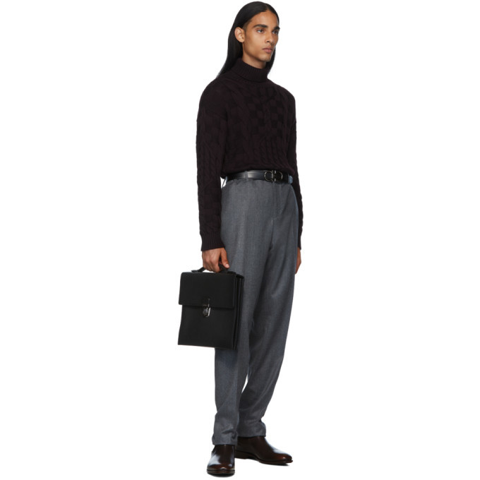 Bottega Veneta Black Reversible Marco Polo Belt
