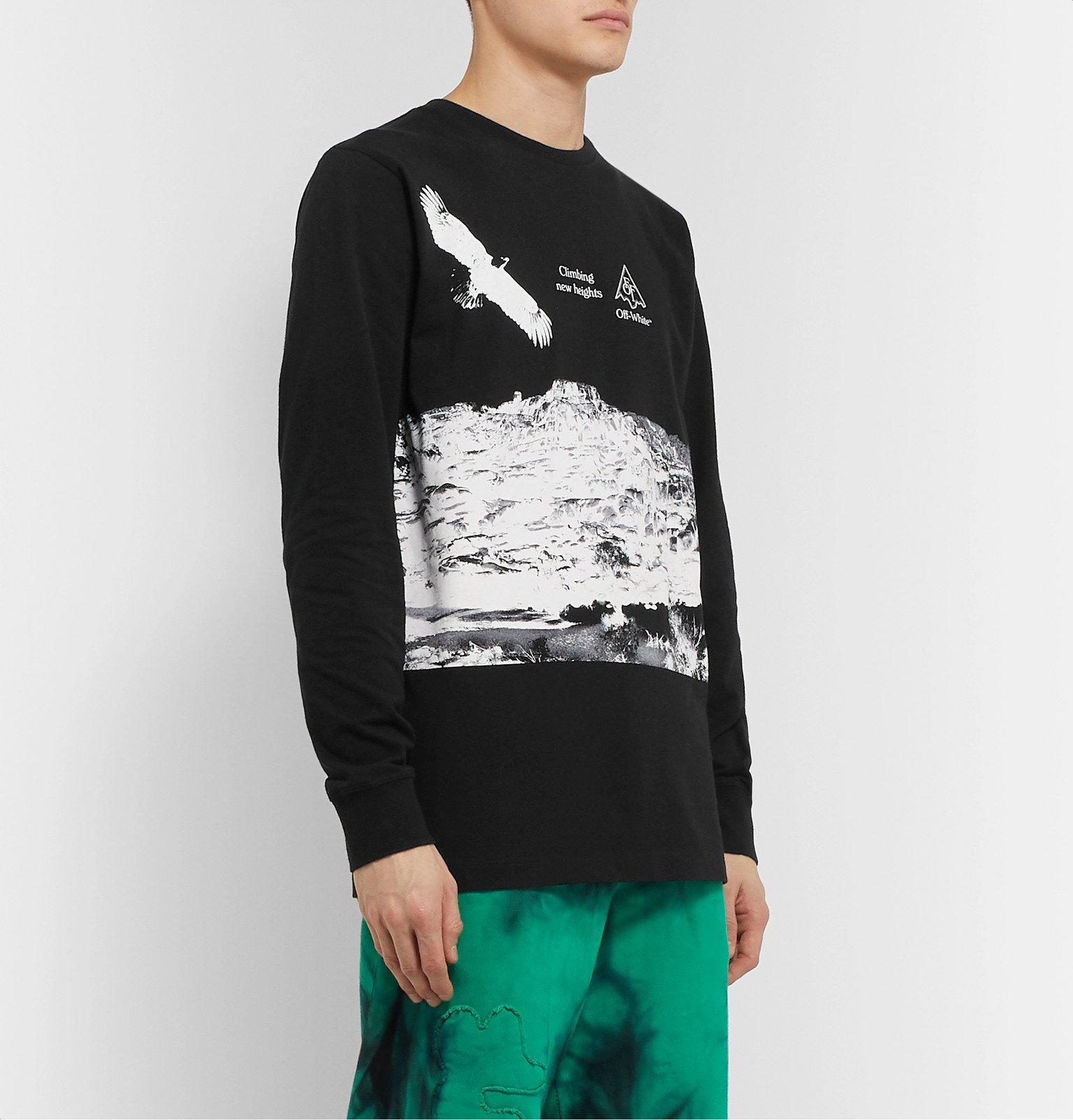 Off-White - Printed Cotton-Jersey T-Shirt - Black