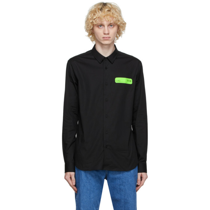 Photo: Versace Jeans Couture Black Poplin Shirt