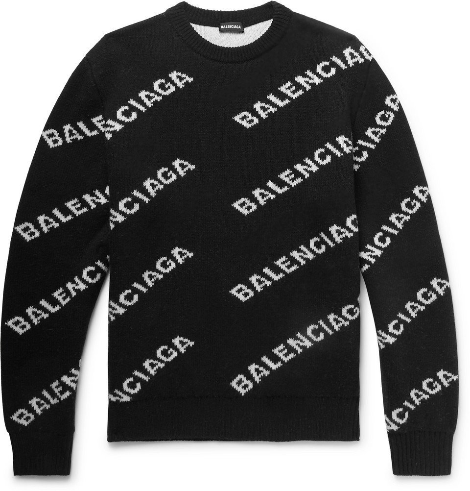 Balenciaga - Logo-Intarsia Knitted