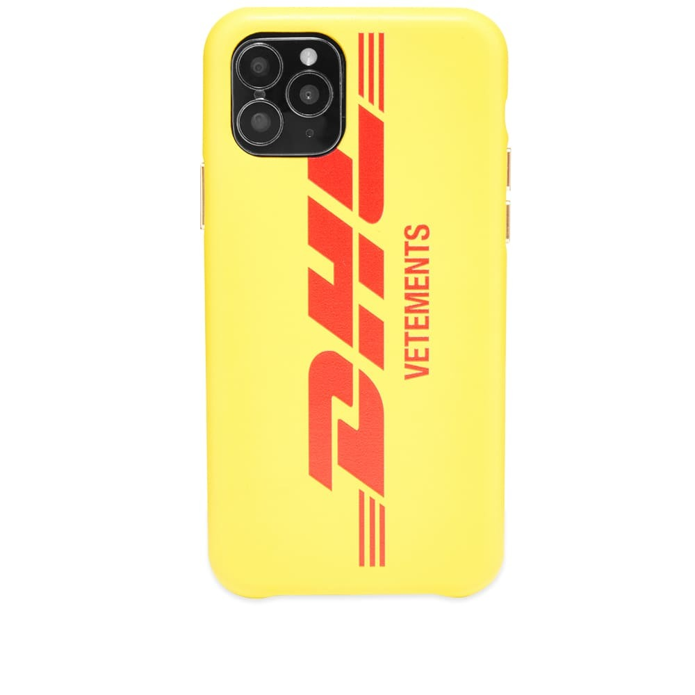 Photo: VETEMENTS DHL Logo iPhone 11 Pro Case