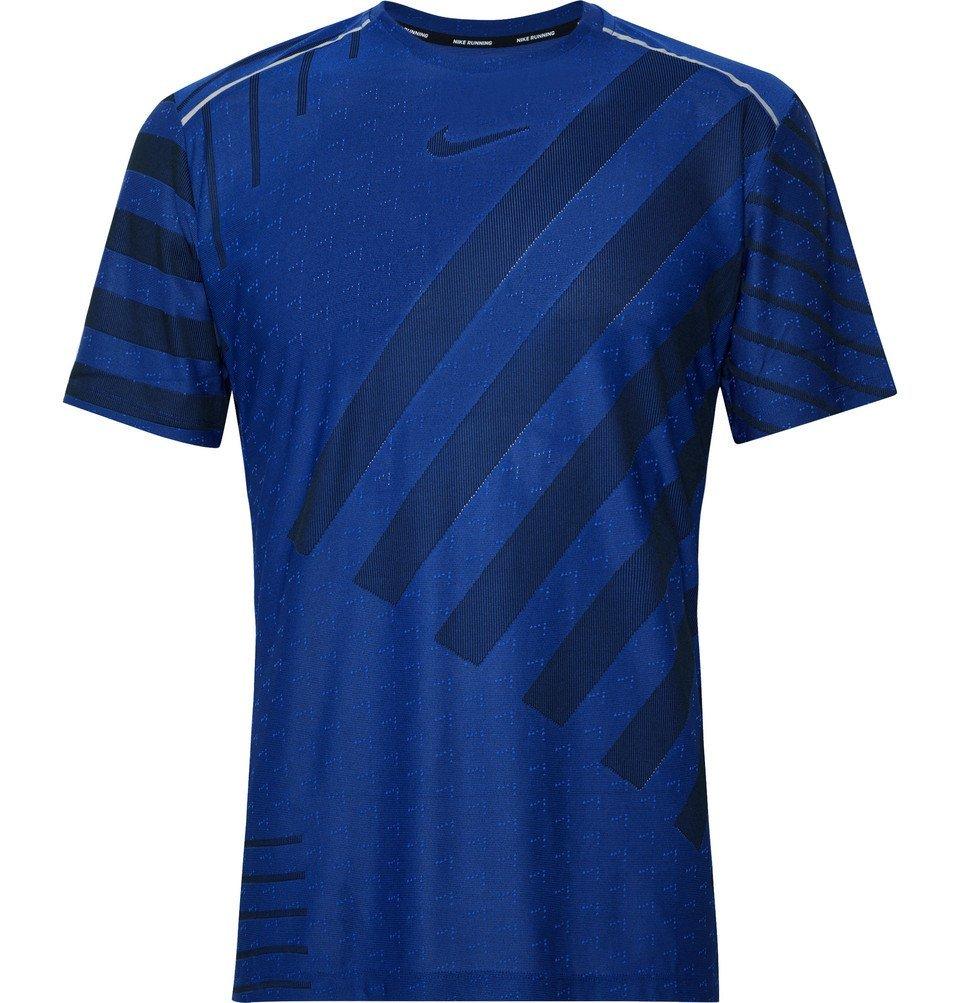 Photo: Nike Running - Ultra Slim-Fit TechKnit T-Shirt - Royal blue