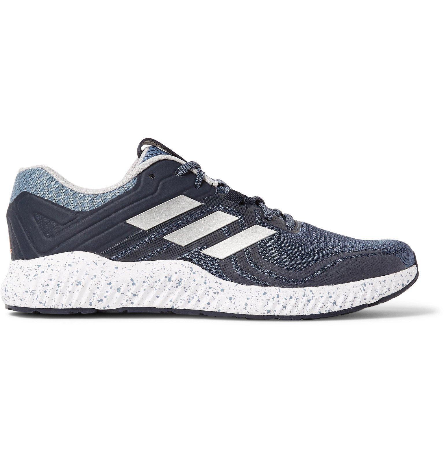Adidas Sport - Aerobounce ST Rubber-Trimmed Mesh Running Sneakers - Gray