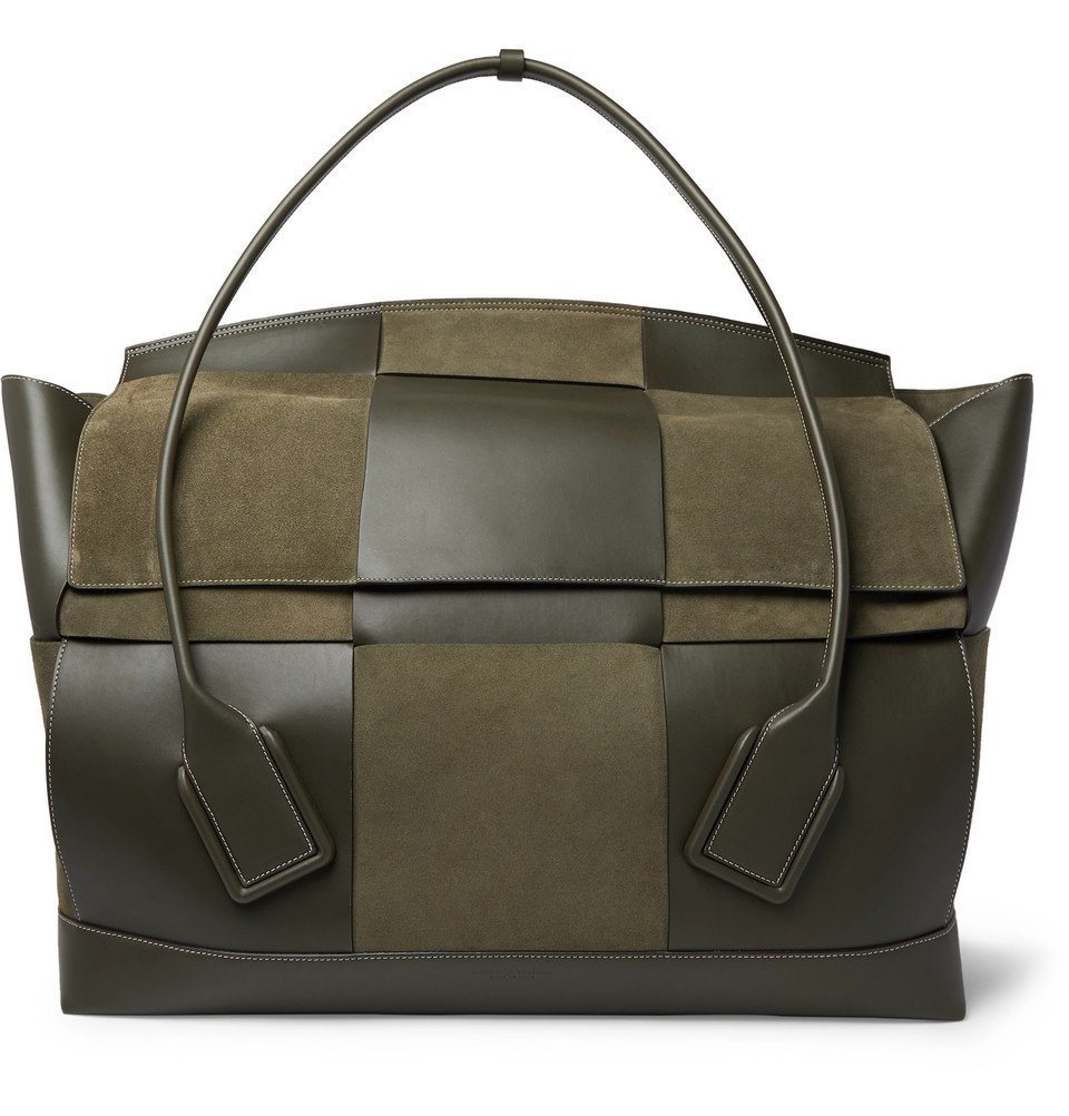 Photo: Bottega Veneta - Intrecciato Suede and Leather Holdall - Green