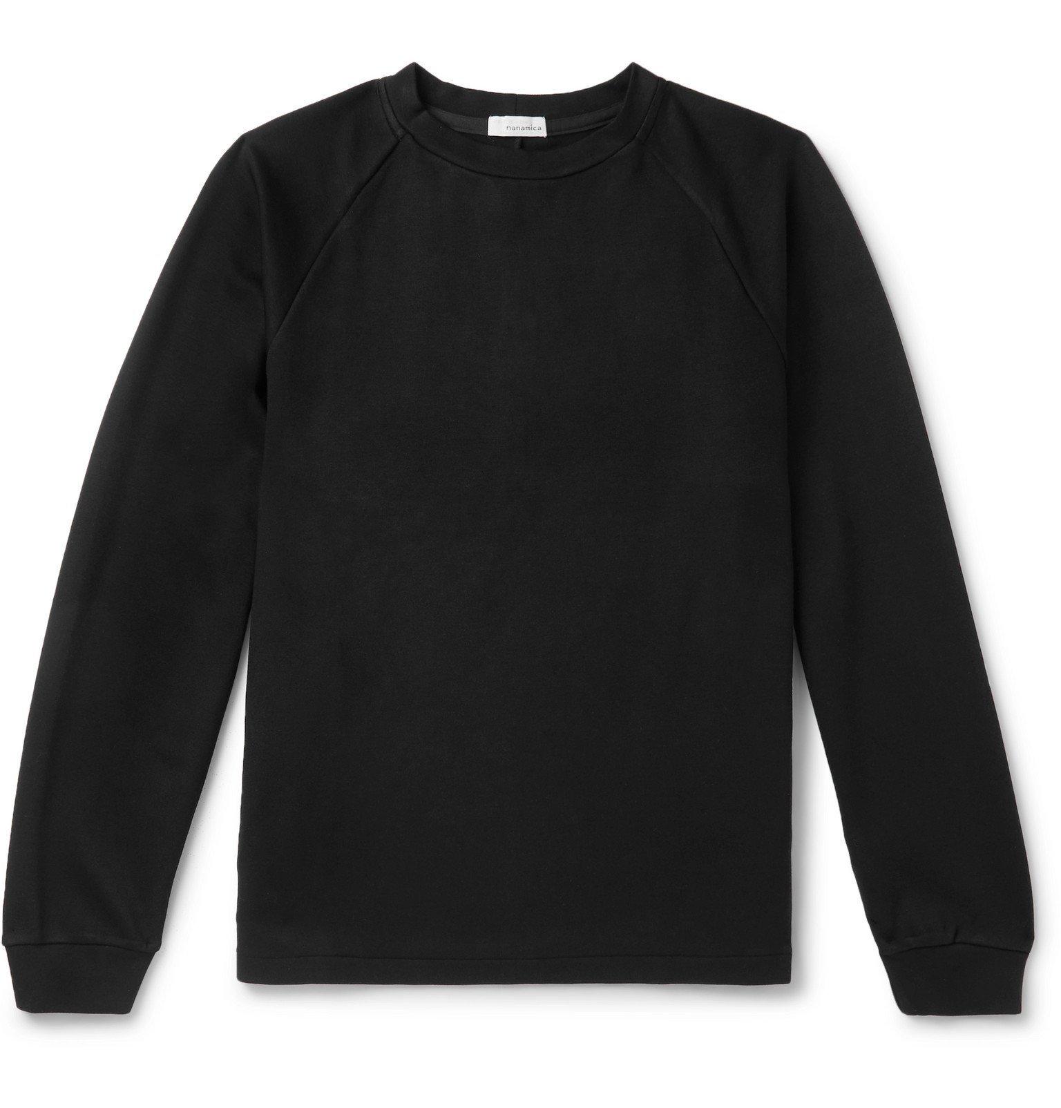Photo: nanamica - Dualwarm Tech-Jersey T-Shirt - Black