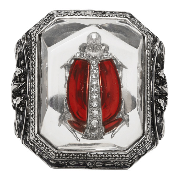 Photo: Alexander McQueen Silver Beetle Resin Ring