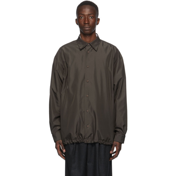 Photo: Bottega Veneta Brown Buttoned Coach Jacket