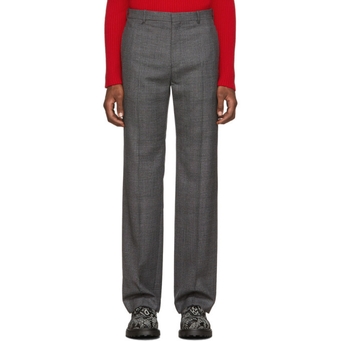 Photo: Balenciaga Grey Prince Of Wales Tailored Trousers