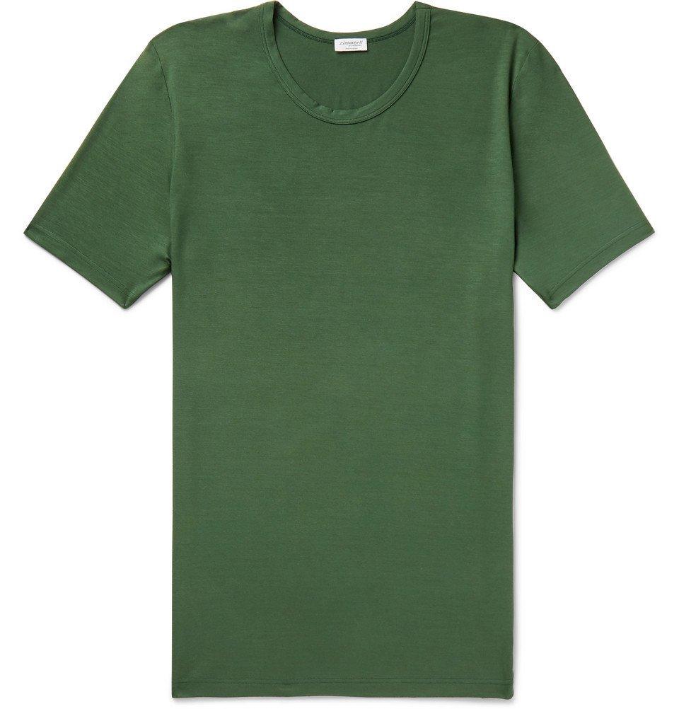 Photo: Zimmerli - Stretch-Modal Jersey T-Shirt - Green