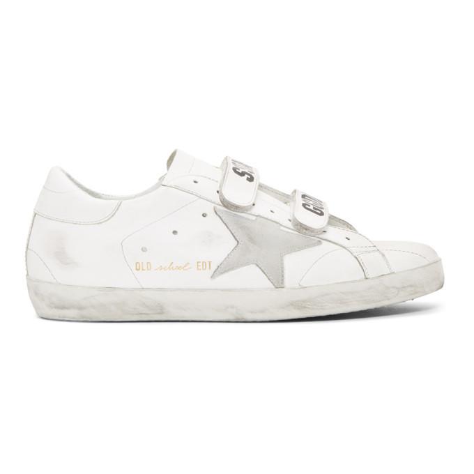 Photo: Golden Goose White Old School Superstar Sneakers
