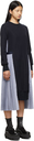 Sacai Navy & White Stripe Layered Dress