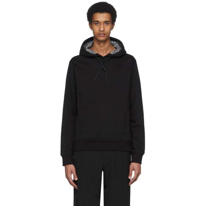 Photo: Salvatore Ferragamo Black Inside Print Hoodie