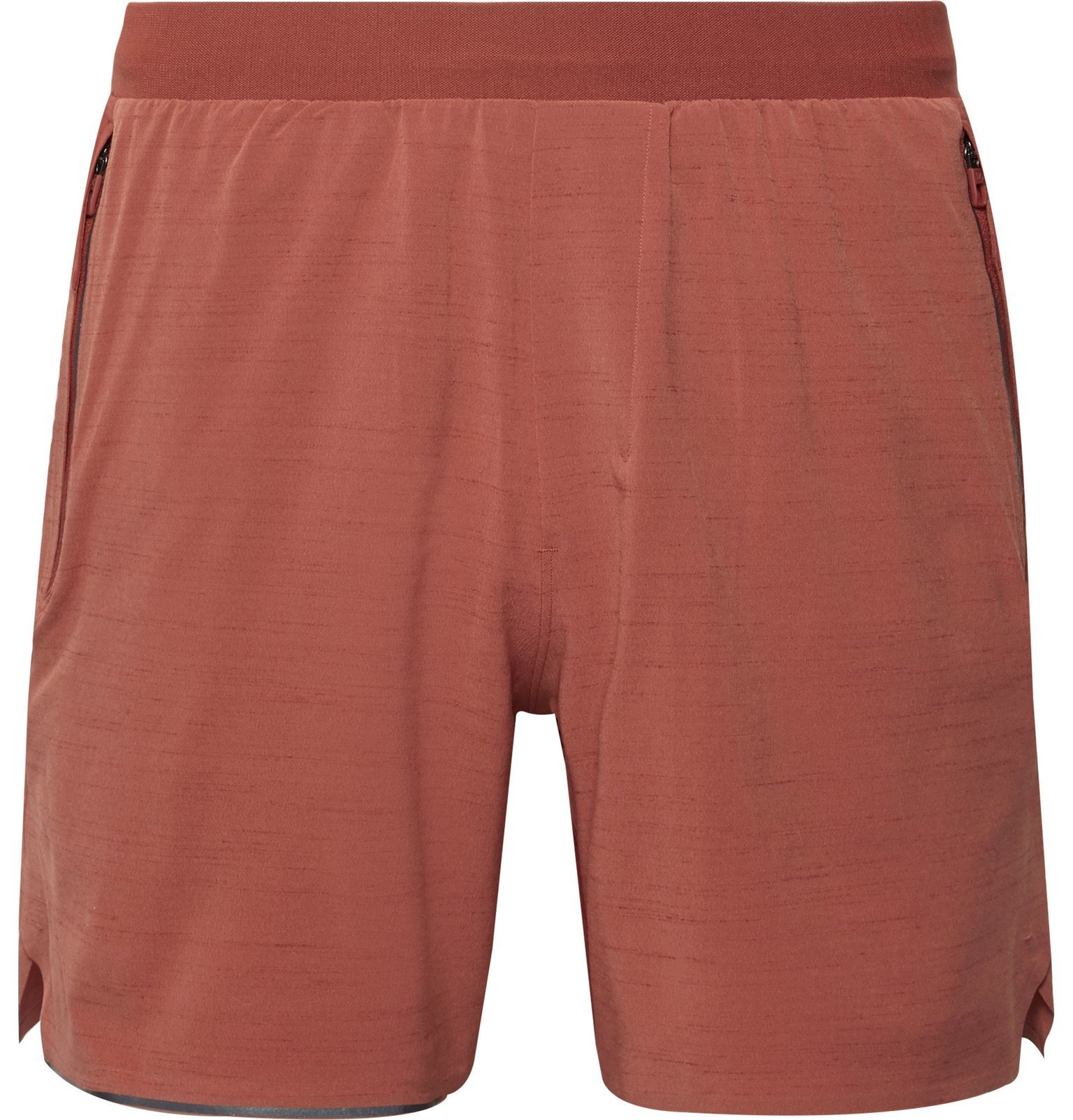 Photo: Lululemon - Switch Up Mesh-Panelled Stretch-Shell Shorts - Red