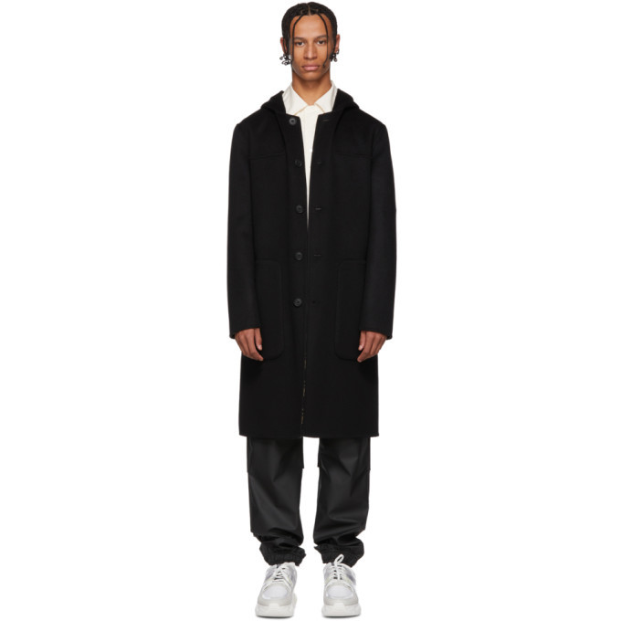 Photo: Fendi Reversible Black Wool Forever Fendi Coat