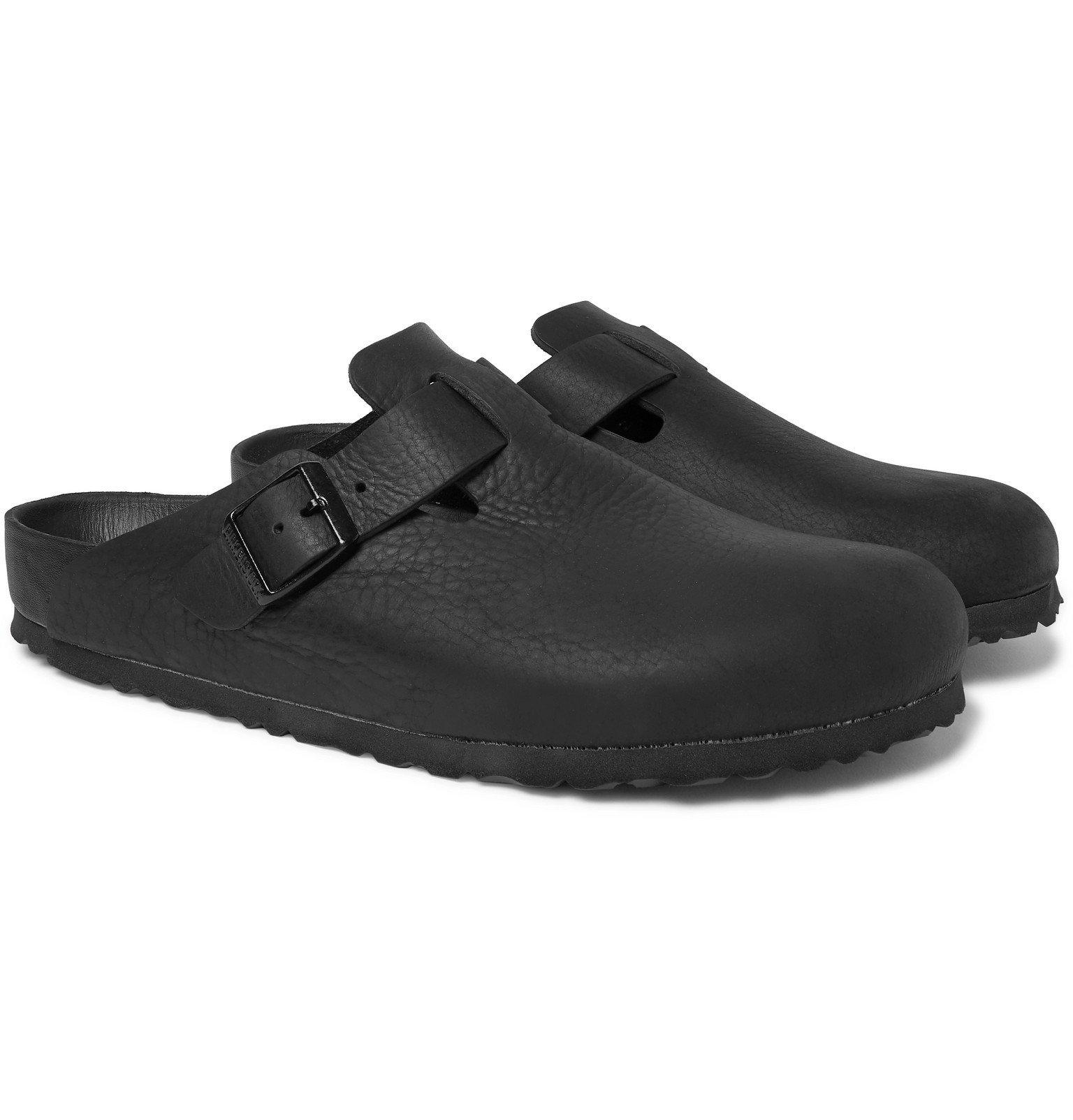 Photo: Birkenstock - Boston Exquisite Leather Sandals - Black