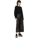 Stella McCartney Black Faux-Leather Charlotte Trousers
