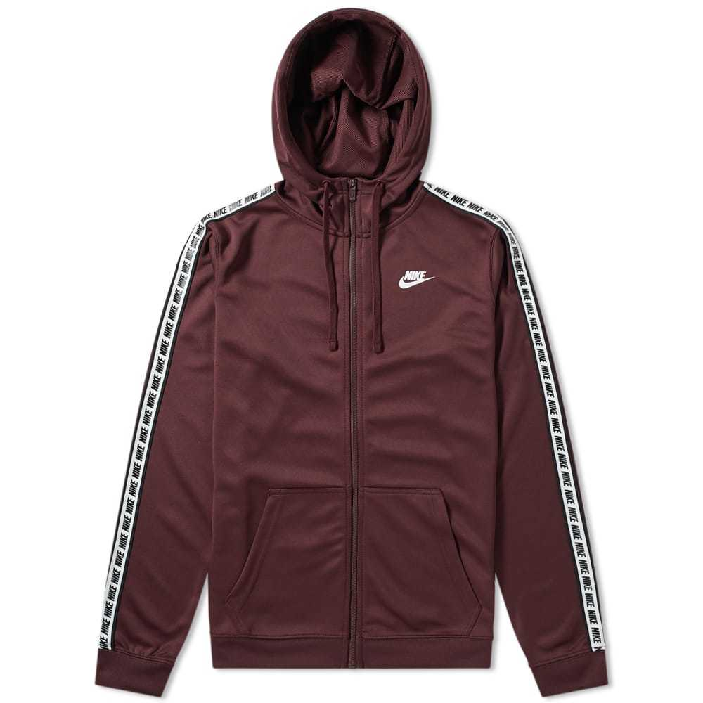 Photo: Nike Repeat Poly Zip Hoody Burgundy Crush & White