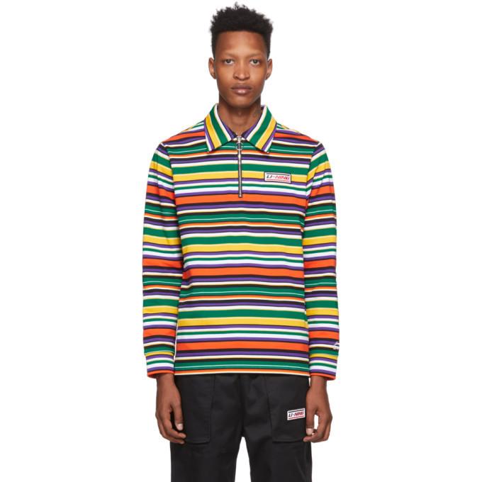 Photo: Li-Ning Multicolor Stripe Long Sleeve Polo