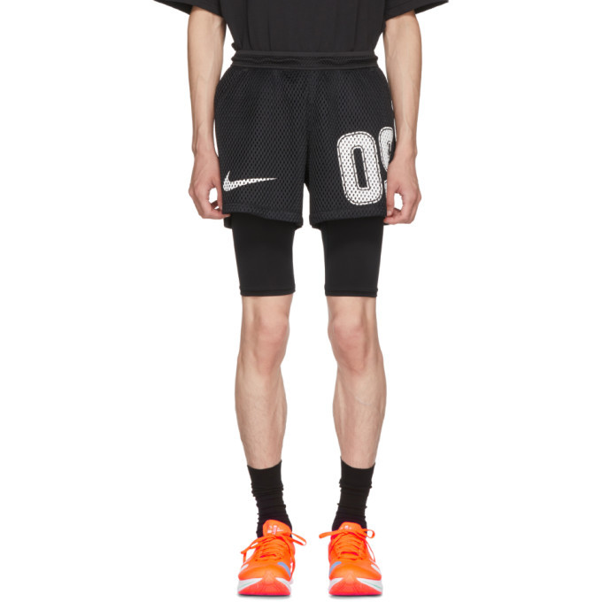 Photo: NikeLab Black Off-White Edition M NRG Carbon Home Shorts