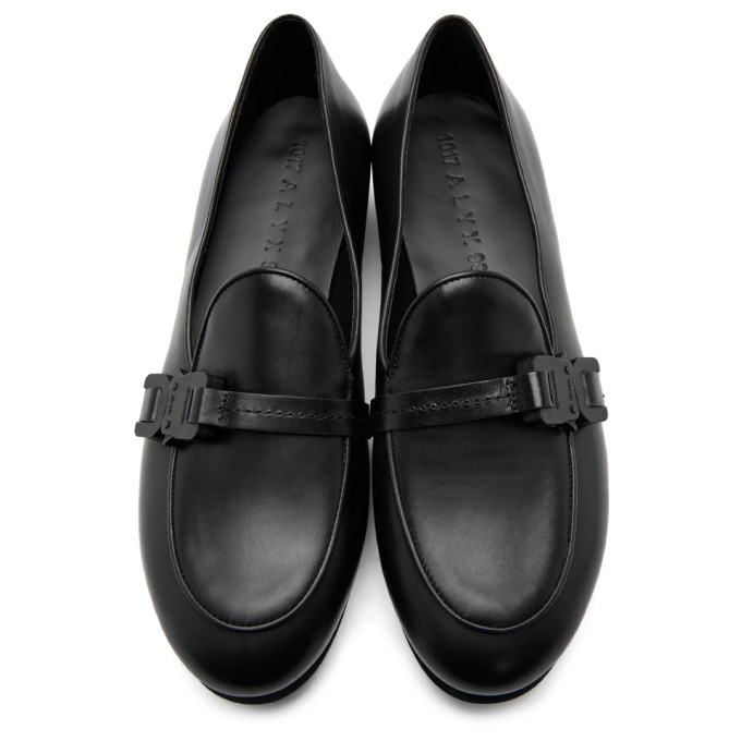 1017 ALYX 9SM Black St. Marks Buckle Loafers