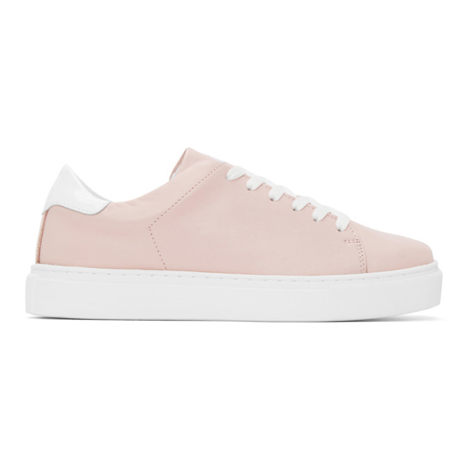 Photo: Joshua Sanders Pink and White Square Toe Sneakers