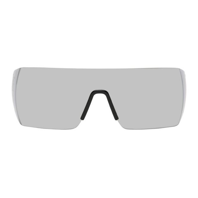 Photo: Kenzo Black Shiny Shield Sunglasses