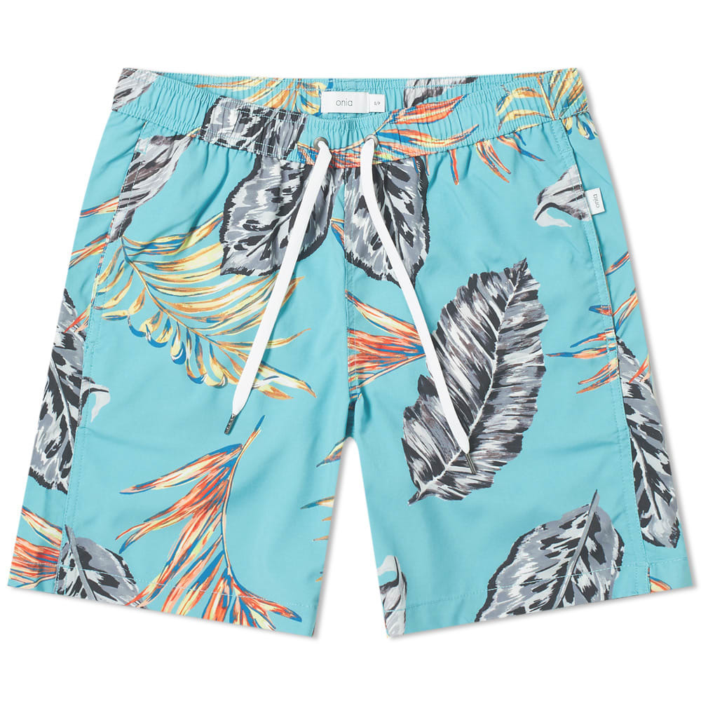 "Photo: Onia Charles 7"" Boca Palms Swim Short"