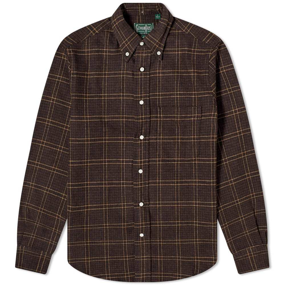 Photo: Gitman Vintage Button Down Tweed Check Overshirt