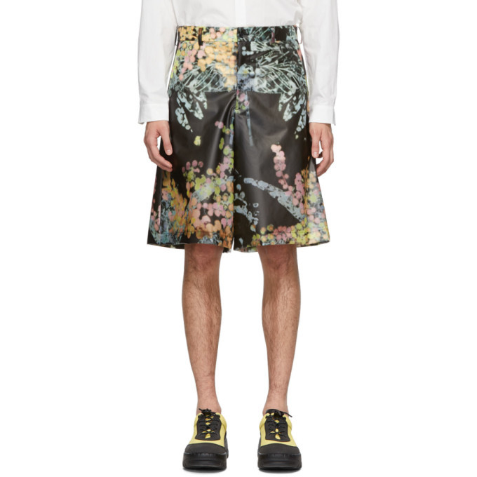 Comme des Garcons Homme Plus Black Plastic Shorts
