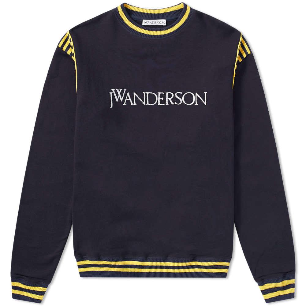 Photo: JW Anderson Logo Varsity Crew Sweat Blue