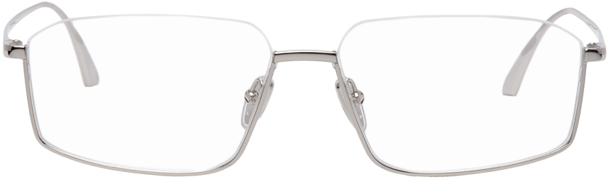 Photo: Balenciaga Silver Shiny BB0143O Glasses