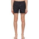 Giorgio Armani Navy Packable Logo Swim Shorts