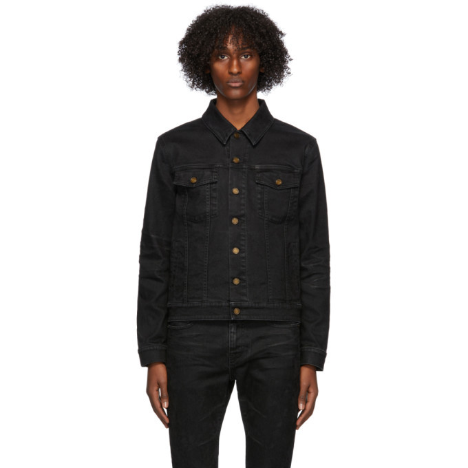 Photo: Saint Laurent Black Denim Classic Jacket
