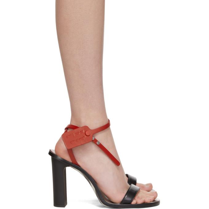 Black Zip-Tie Capri Heeled Sandals