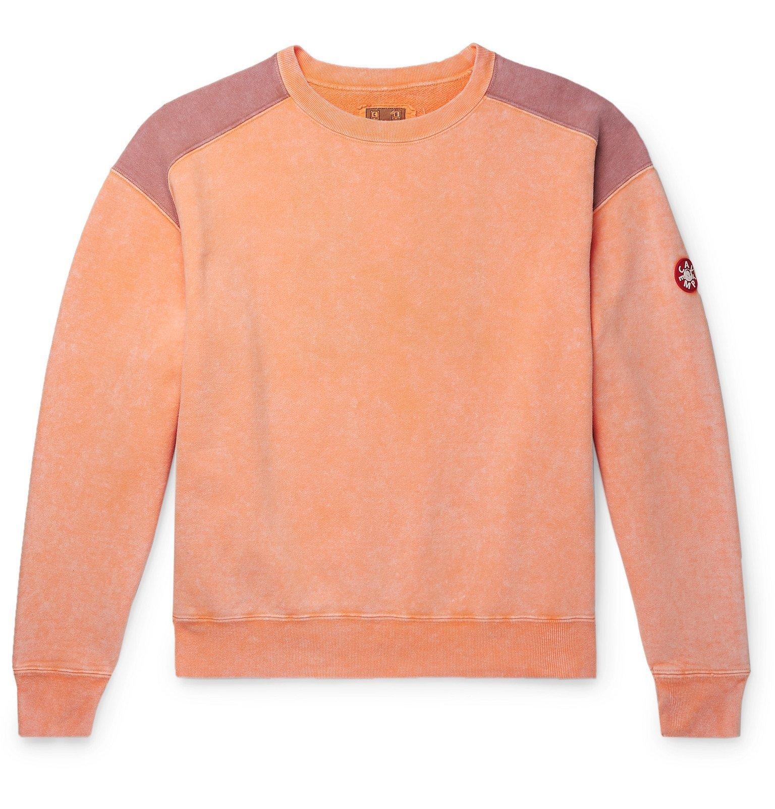 Photo: Cav Empt - Panelled Loopback Cotton-Jersey Sweatshirt - Orange