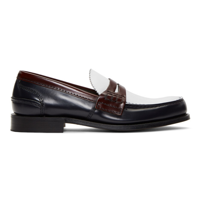 Photo: Churchs Navy and White Pembrey Loafers